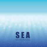 Дизайн моря background card congratulation invitation Красочная иллюстрация, вектор Стоковые Изображения RF