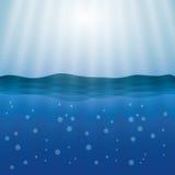 Дизайн моря background card congratulation invitation Красочная иллюстрация, вектор Стоковые Изображения