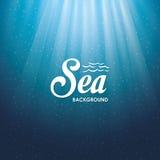 Дизайн моря background card congratulation invitation Красочная иллюстрация, вектор Стоковое Изображение RF