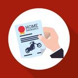 Дизайн мотоцикла Икона перевозки изолированная иллюстрация руки кнопки нажимающ женщину старта s Стоковое Изображение RF