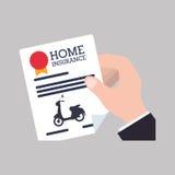 Дизайн мотоцикла Икона перевозки изолированная иллюстрация руки кнопки нажимающ женщину старта s Стоковые Изображения RF