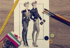 Дизайн моды Стоковая Фотография