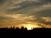 Дизайн мрамора восхода солнца Стоковое Фото