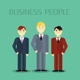 Дизайн мужского портрета бизнесмена плоский Бесплатная Иллюстрация