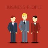 Дизайн мужского портрета бизнесмена плоский Иллюстрация вектора