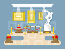Дизайн музея плоский Стоковое Изображение