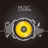Дизайн музыки бесплатная иллюстрация