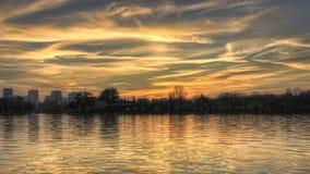 Дизайн неба захода солнца - фото HDR Стоковое Фото