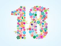 Дизайн 18 номеров вектора красочный флористический изолированный на белой предпосылке Флористическая пальмира 18 иллюстрация вектора