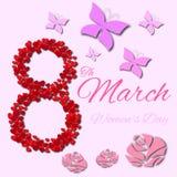 Дизайн дня женщины Стоковая Фотография