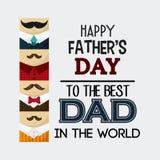 Дизайн дня отцов Стоковое Изображение RF