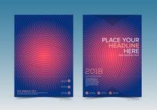 Дизайн обложки книги технологии с стравливающой зоной в готовом вектора для печатания бесплатная иллюстрация