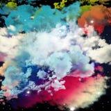 Дизайн облаков и цвета мечты, воображения, фантазии и a Стоковое Изображение RF