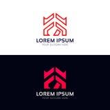 Дизайн логотипа вектора значка компании знака FR Стоковые Изображения RF