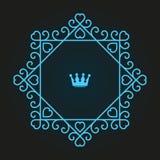 Дизайн логотипа вензеля Стоковое Фото