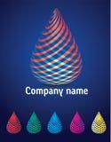 Дизайн логотипа воды Стоковая Фотография RF