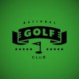 Дизайн логотипа гольфа вектора плоский иллюстрация штока