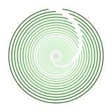 Дизайн логотипа зеленой круговой сферы современный Стоковое Изображение