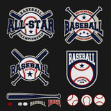 Дизайн логотипа значка бейсбола для логотипов иллюстрация вектора