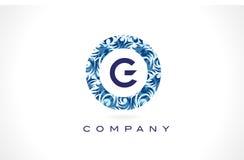 Дизайн логотипа картины g письма голубой Стоковое Изображение RF