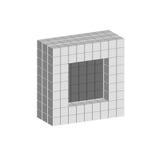 Дизайн логотипа куба, серая геометрическая форма Стоковое Изображение RF