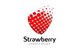 Дизайн логотипа клубники Красный значок клубники Стоковые Фотографии RF