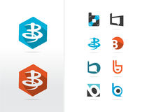 Дизайн логотипа письма b Стоковая Фотография