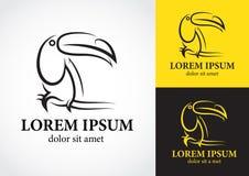 Дизайн логотипа птицы Toucan Стоковое фото RF