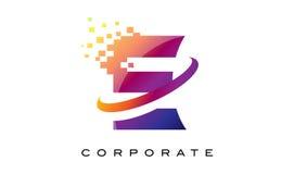 Дизайн логотипа радуги письма e красочный Стоковое фото RF