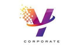 Дизайн логотипа радуги письма y красочный Стоковое Изображение RF