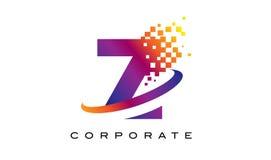 Дизайн логотипа радуги письма z красочный Стоковая Фотография