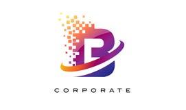 Дизайн логотипа радуги b письма красочный Стоковые Изображения