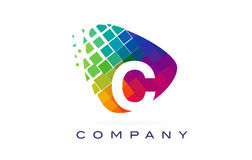 Дизайн логотипа радуги c письма красочный Стоковое Изображение RF