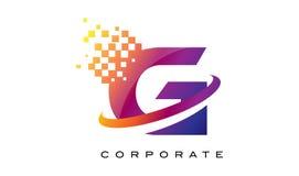 Дизайн логотипа радуги g письма красочный Стоковые Изображения RF