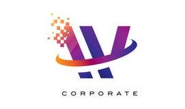 Дизайн логотипа радуги w письма красочный Стоковое Фото