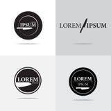 Дизайн логотипа ресторана Стоковое Изображение