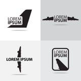 Дизайн логотипа самолета воздуха Стоковое фото RF