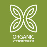 Дизайн логотипа сада экологичности Стоковое Изображение RF