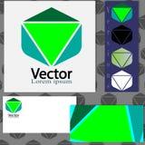 Дизайн логотипа с шаблонами визитной карточки Стоковая Фотография RF