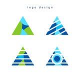 Дизайн логотипа треугольника творческий Стоковые Фотографии RF