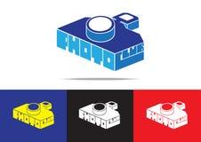 Дизайн логотипа цифровой фотокамера Стоковое Изображение