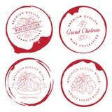 Дизайн логотипа для вина Стоковое Изображение