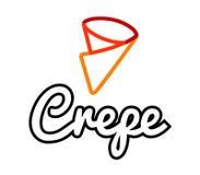 Дизайн логотипа Crepe иллюстрация вектора