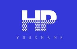 Дизайн логотипа HP H.P. Dotted Письма с голубой предпосылкой бесплатная иллюстрация