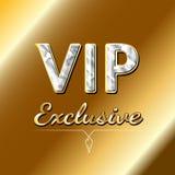 Дизайн логотипа VIP исключительный принципиальная схема предпосылки обедая белизна точного лимона langoustine трав роскошная Стоковая Фотография RF