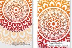 Дизайн орнамента картины мандалы украшения флористический индийский Стоковая Фотография