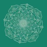 Дизайн орнамента картины мандалы украшения флористический индийский Стоковые Фотографии RF