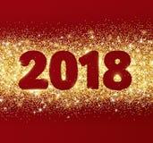 дизайн 2018 оформления яркого блеска Золотой сверкная прямоугольник пыли вектора Стоковое Изображение RF