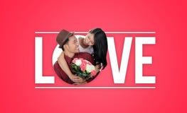 Дизайн оформления влюбленности Стоковые Изображения