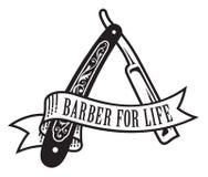 Дизайн парикмахера на всю жизнь иллюстрация штока